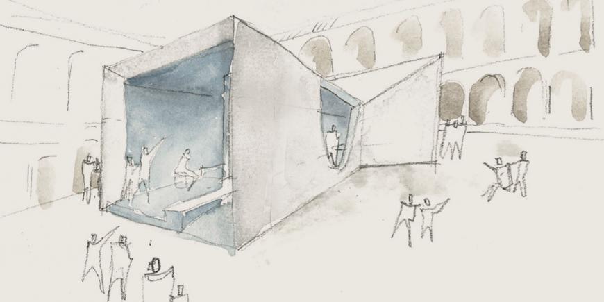 Passaggioinblu: l'installazione alla Human Spaces